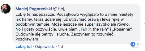 Opinia Maciek